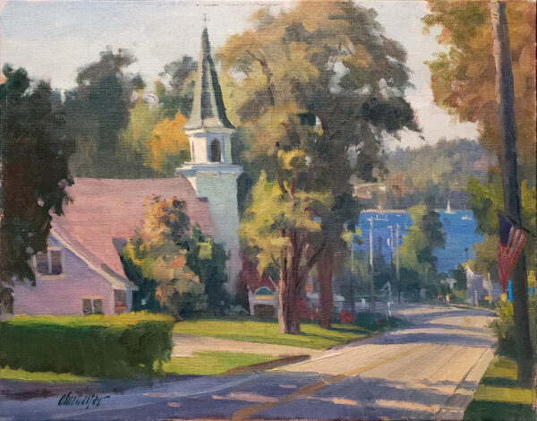 """American Legacy Fine Arts presents """"Good Morning Door; Door County, WI"""" a painting by Michael Obermeyer."""