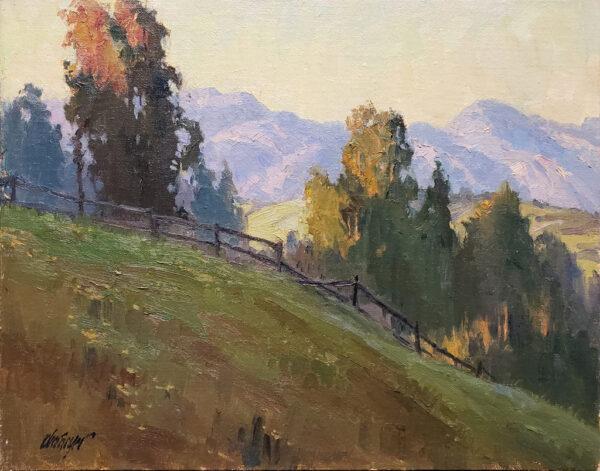 "American Legacy Fine Arts presents ""Hillside Vista"" a painting by Michael Obermeyer."