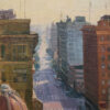 """American Legacy Fine Arts presents """"The Fashion District; Los Angeles"""" a painting by Michael Obermeyer."""