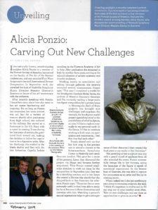 American Legacy Fine Arts presents Alicia Ponzio in American Art Collector Magazine, February 2019 Issue.