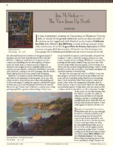 American Legacy Fine Arts presents Jim McVicker in Californi Art Club's Newsletter.