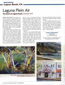 American Legacy Fine Arts presents Michael Obermeyer in Southwest Art Magazine October 2014.