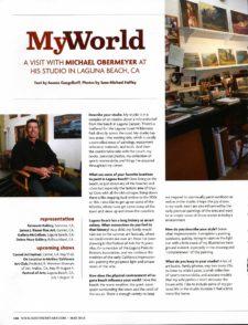 American Legacy Fine Arts presents Michael Obermeyer in Southwest Art Magazine.