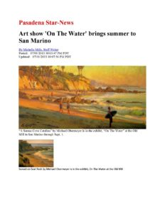 American Legacy Fine Arts presents Michael Obermeyer in Pasdena Star News July 2013.