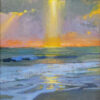 """American Legacy Fine Arts presents """"Pillar of Light; Oceanside, California"""" a painting by Peter Adams"""