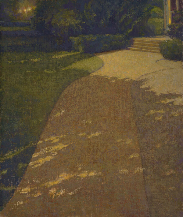 """American Legacy Fine Arts presents """"Moonshadow"""" a painting by Jennifer Moses."""