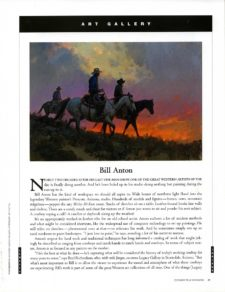 American Legacy Fine Arts presents Bill Anton in Cowboys & Indians Magazine, February/March 2019 Issue.