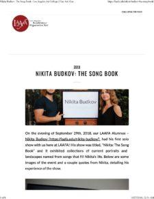 American Legacy Fine Arts presents Nikita Budkov in Los Angeles Academy of Figurative Art Blog Post.