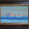 """American Legacy Fine Arts presents """"Teton Valley Winter"""" a painting by Jennifer Moses."""