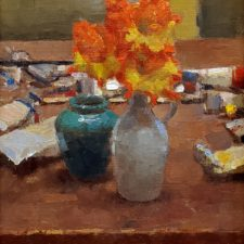 """American Legacy Fine Arts presents """"Yelow, Red and Blue"""" a painting by Jim McVicker."""