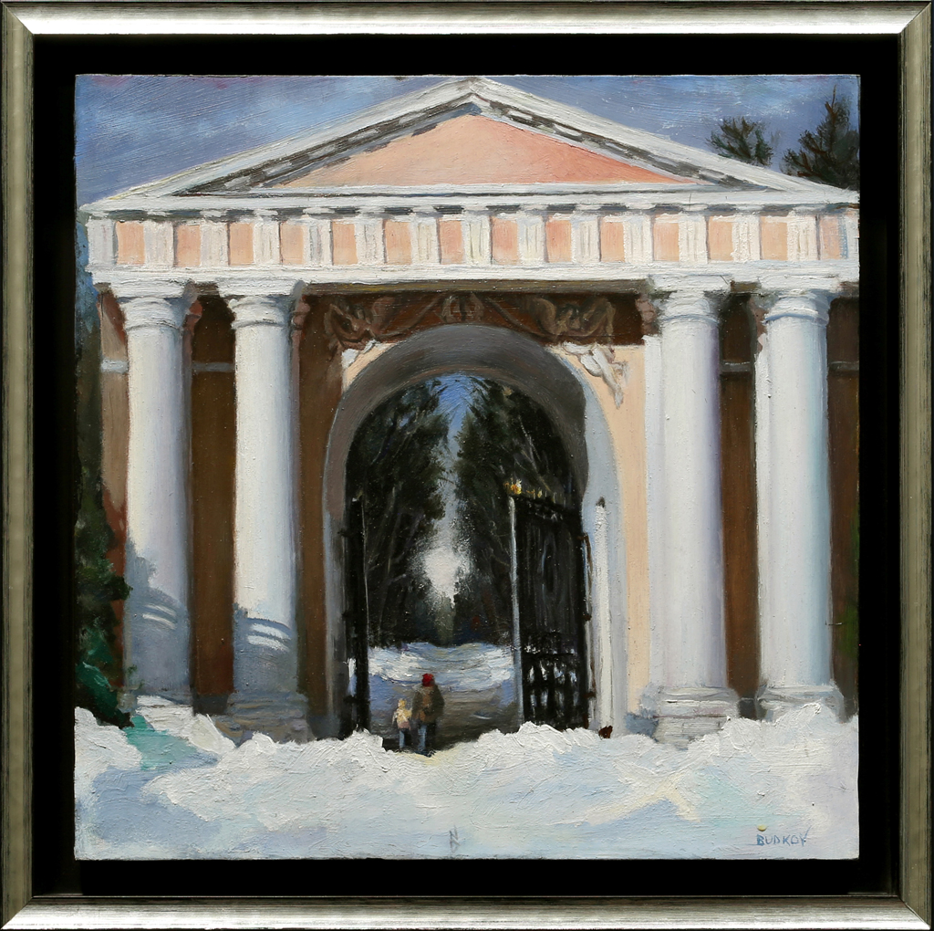 """American Legacy Fine Arts presents """"A Struggle with Emptiness"""" a painting by Nikita Budkov."""