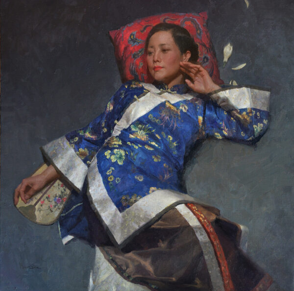 """American Legacy Fine Arts presents """"Moment of Peace"""" a painting by Mian Situ."""