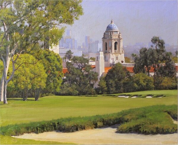 """American Legacy Fine Arts presents """"View from the 18th Green"""" a painting by Alexander V. Orlov."""