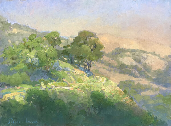 """American Legacy Fine Arts presents """"A Road Less Travelled, Tejon Ranch"""" a painting by Peter Adams."""