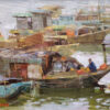 """American Legacy Fine Arts presents """"Boats of Kaiping"""" a painting by Aimee Erickson.American Legacy Fine Arts presents """"Boats of Kaiping"""" a painting by Aimee Erickson."""
