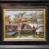 """American Legacy Fine Arts presents """"Boats of Kaiping"""" a painting by Aimee Erickson."""
