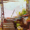 """American Legacy Fine Arts presents """"China Porch & Pink Broom"""" a painting by Aimee Erickson."""