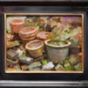 """American Legacy Fine Arts presents """"China Pots & Rubble"""" a painting by Aimee Erickson."""