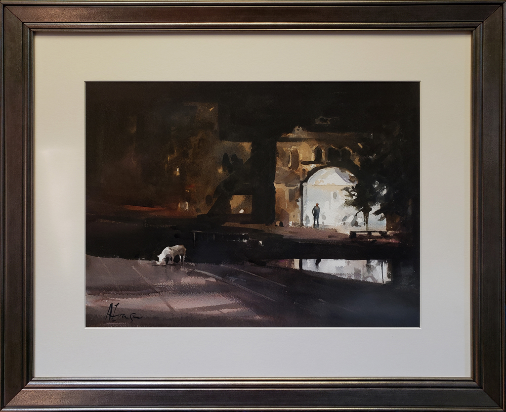 """American Legacy Fine Arts presents """"Last Call"""" a painting by Andy Evansen."""