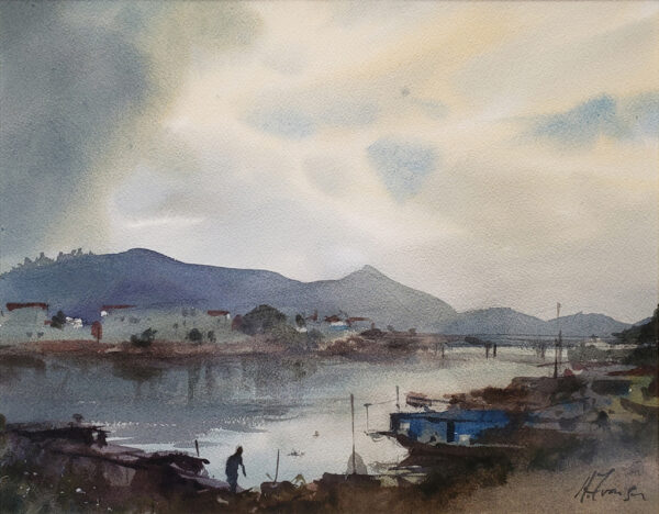 """American Legacy Fine Arts presents """"Passing Showers, Chekan"""" a painting by Andy Evansen."""