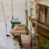 """American Legacy Fine Arts presents """"Living Boat"""" a painting by Eric F. Guan."""