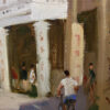 """American Legacy Fine Arts presents """"Old Town Chikan"""" a painting by Eric F. Guan."""