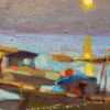 """American Legacy Fine Arts presents """"Moonlight; Sunchong, Guandong"""" a painting by Hai-Ou Hou."""