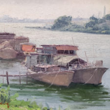 """American Legacy Fine Arts presents """"Home Sweet Home"""" a painting by John Budicin."""