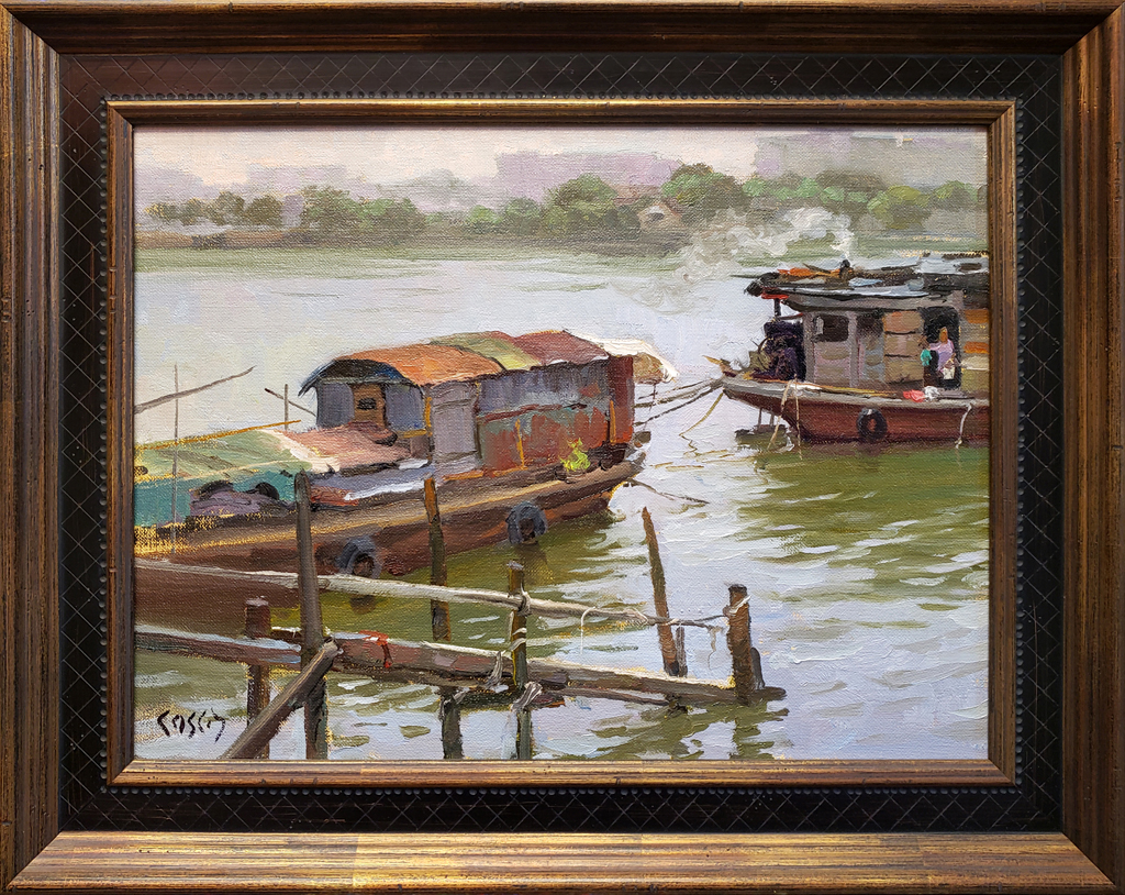 """American Legacy Fine Arts presents """"Neighbors"""" a painting by John Cosby."""