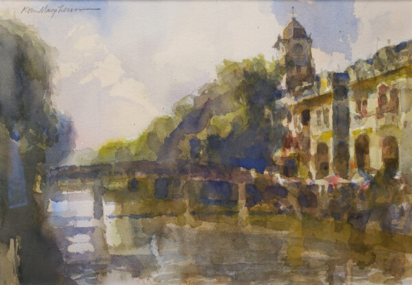 """American Legacy Fine Arts presents """"Chikan Bridge"""" a painting by Kevin Macpherson."""