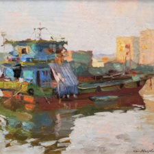 """American Legacy Fine Arts presents """"Sunset"""" a painting by Kevin Macpherson."""