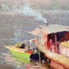 """American Legacy Fine Arts presents """"Hometown Boat View"""" a painting by Michael Situ."""