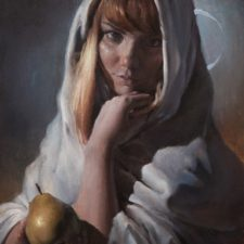 """American Legacy Fine Arts presents """"Eclipse"""" a painting by Nikita Budkov."""