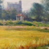 """American Legacy Fine Arts presents """"Autumn Rice Fields; Kaiping, China"""" a painting by W. Jason Situ."""