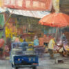 """American Legacy Fine Arts presents """"Market Place"""" a painting by W. Jason Situ."""