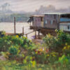 """American Legacy Fine Arts presents """"The Living Boats"""" a painting by W. Jason Situ."""