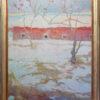 "American Legacy Fine Arts presents ""Harrison Falls Snowfall"" a painting by Daniel W. Pinkham."
