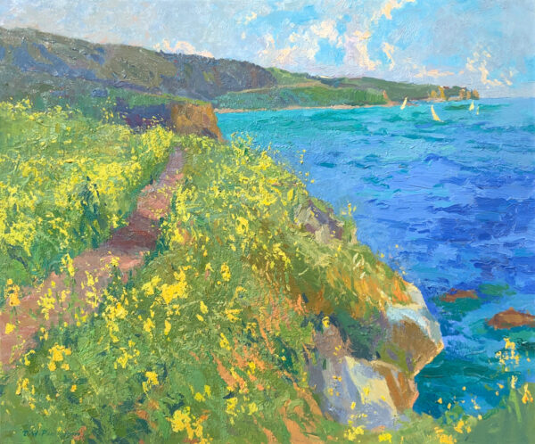 """American Legacy Fine Arts presents """"Portuguese Bend Spring Effect"""" a painting by Daniel W. Pinkham."""