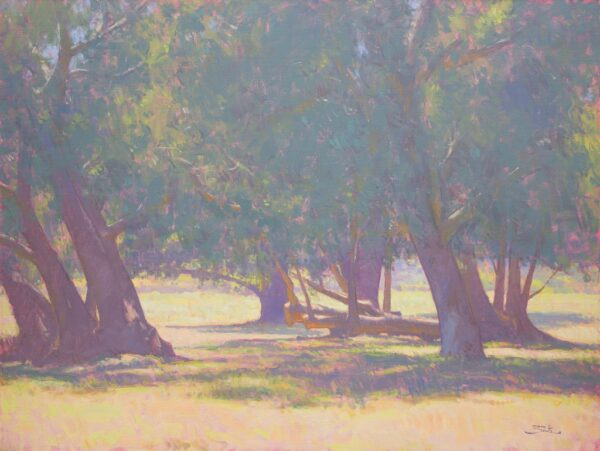 """American Legacy Fine Arts presents """"Beneath the Trees"""" a painting by Dan Schultz."""