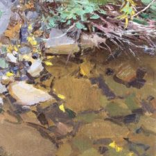"American Legacy Fine Arts presents ""Rainy Creek"" a painting by David Dibble."