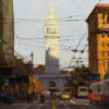 """American Legacy Fine Arts presents """"Market & Spear; San Francisco"""" a painting by Brian Blood."""