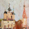 """American Legacy Fine Arts presents """"Suzdal, Russia"""" a painting by Jove Wang."""