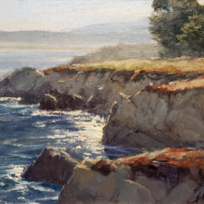 """American Legacy Fine Arts presents """"A Perfect Morning in Pacific Grove"""" a painting by Kathleen Dunphy."""