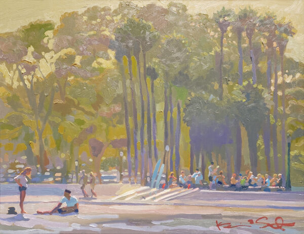"""American Legacy Fine Arts presents """"Surf Team"""" a painting by Kevin A Short."""