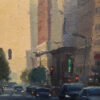 """American Legacy Fine Arts presents """"Seventh and Hill, Los Angeles"""" a painting by Michael Obermeyer."""