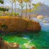 """American Legacy Fine Arts presents """"Afternoon at Whalers Cove, Point Lobos"""" a painting by Peter Adams."""