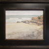 """American Legacy Fine Arts presents """"Becalmed Dog Beach"""" a painting by Robin Rurcell."""
