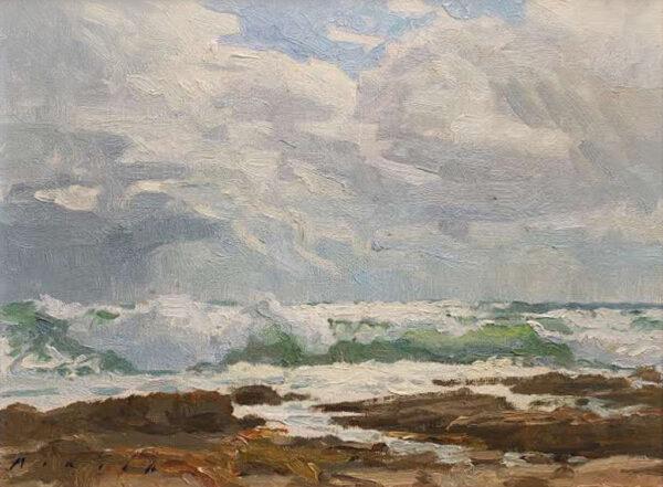"American Legacy Fine Arts presents ""Storm Break, San Pedro"" a painting by Stephen Mirich."