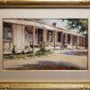 """American Legacy Fine Arts presents """"The Hacienda"""" a painting by Carl Oscar Borg."""