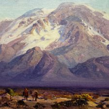 """American Legacy Fine Arts presents """"Desert Landscape with Figures"""" a painting by Fred Grayson Sayre."""